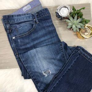Gap Slouchy Skinny Distressed Jeans